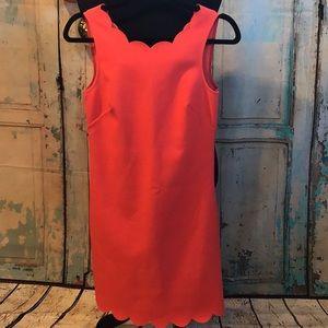 Jcrew scalloped hem dress